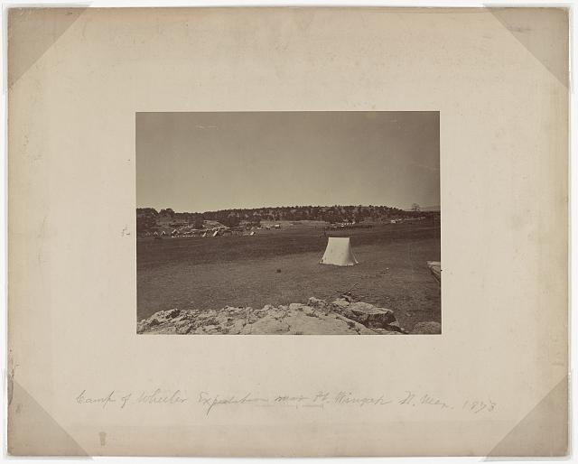 Survey camp near Fort Wingate, 1873