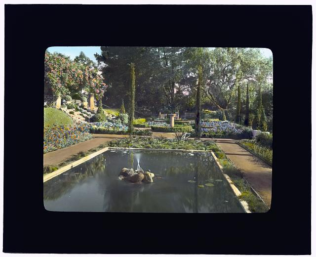 [Mrs. Francis Lemoine Loring house, 700 South San Rafael Avenue, San Rafael Heights, Pasadena, California. Flower garden]