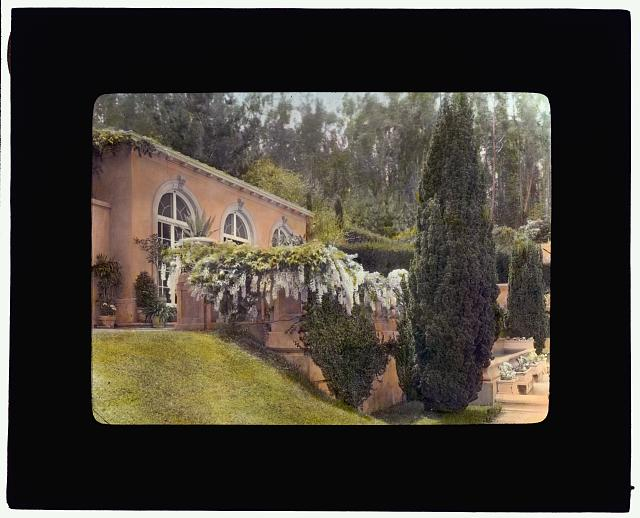"[""Villa Rose,"" Joseph Donahoe Grant house, 2260 Redington Road, Hillsborough, California. Pool house]"