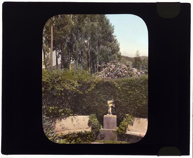 "[""Piranhurst,"" Henry Ernest Bothin house, 371 Cold Spring Road, Montecito, California. Garden seat]"