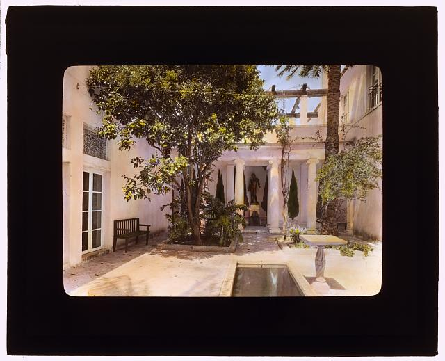 "[""El Fureidis,"" James Waldron Gillespie house, Parra Grande Lane, Montecito, California. Interior court]"