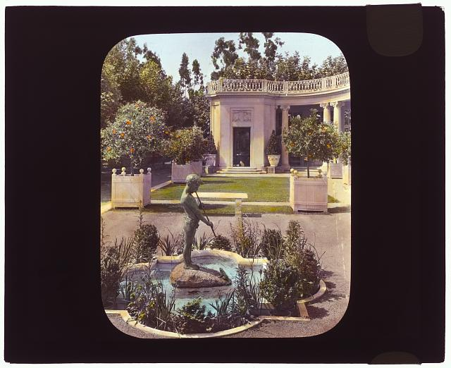 "[""Newmar,"" Senator George Almer Newhall house, 1761 Manor Drive, Hillsborough, California. View from house terrace]"