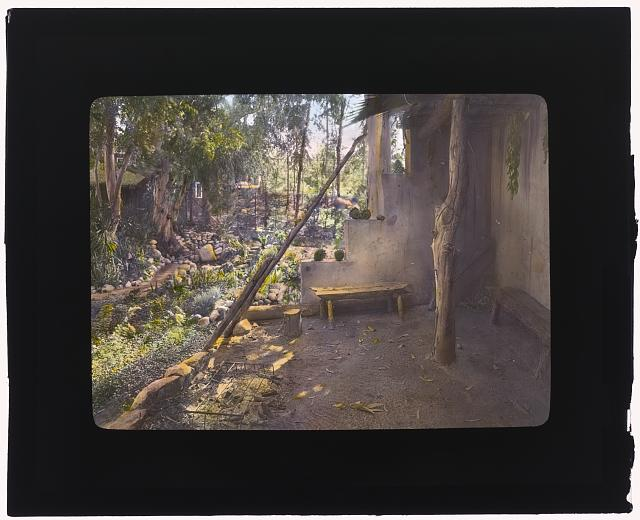 [John Henry Fisher adobe, 765 West Highland Avenue, Redlands, California. Outdoor kitchen]