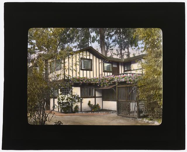 "[""Inellan,"" Walter Douglas house, Channel Drive, Montecito, California. Service entrance]"