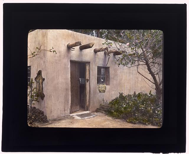 [John Henry Fisher adobe, 765 West Highland Avenue, Redlands, California. Entrance door]