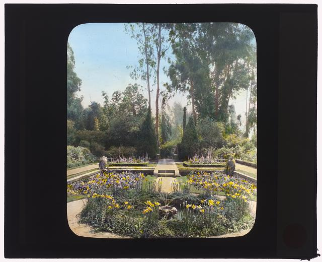 "[""Glenn-Orr,"" William Meade Orr house, 500 North Vega Street, Alhambra, California. The Secret Garden]"