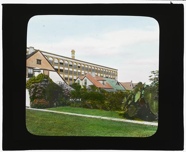 [National Cash Register Company, Dayton, Ohio. Worker house gardens after landscaping]