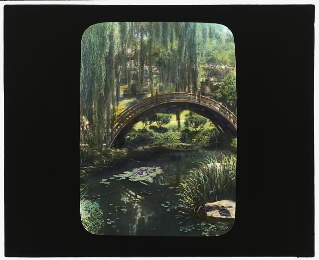 [Henry Edwards Huntington house, Oxford Road, San Marino, California. Drum bridge in the Japanese garden]