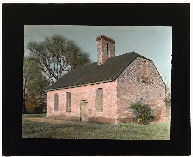 "[""Stratford Hall,"" 786 Great House Road, Stratford, Westmoreland County, Virginia. Southwest or southeast outhouse]"