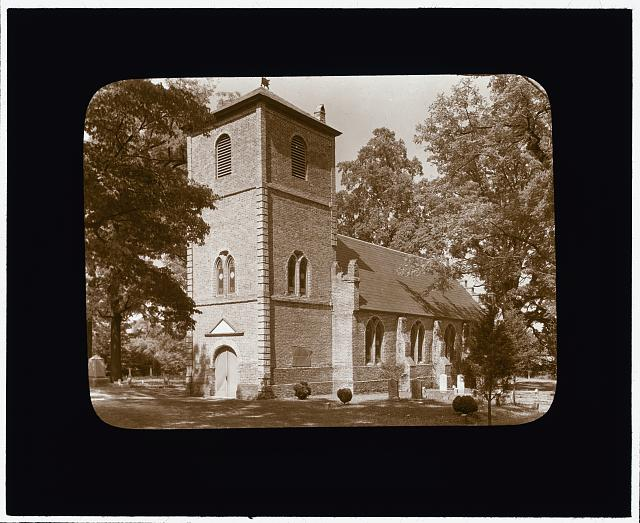 [St. Luke's Church, Smithfield vicinity, Isle of Wight County, Virginia. Bell tower entrance]