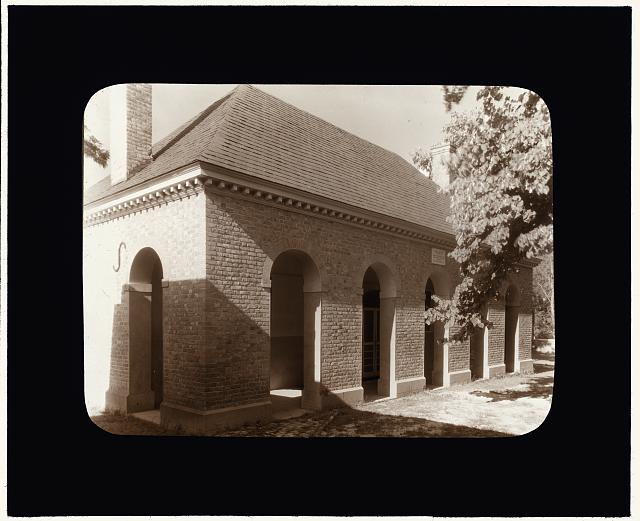 [Court House, King William County, Virginia. Piazza]