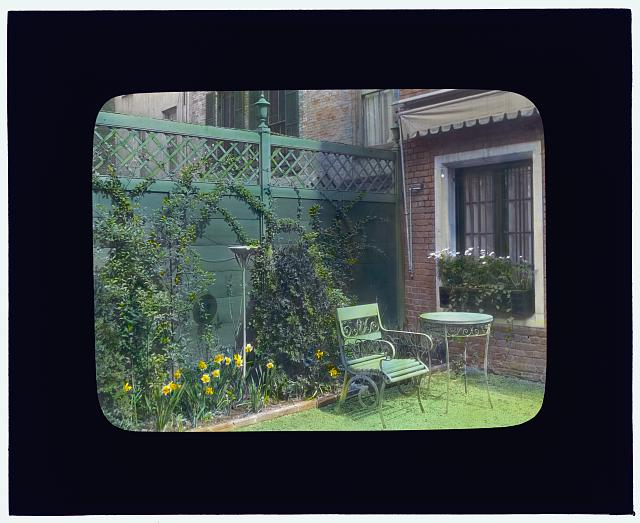 [George Hoadly Ingalls house, 154 East 78 Street, New York, New York. View to corner of terrace]