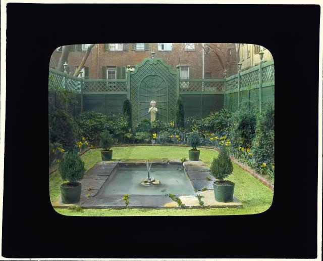 [George Hoadly Ingalls house, 154 East 78th Street, New York, New York. View from terrace to garden]