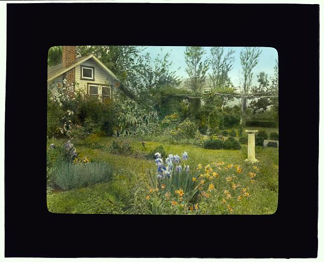 [Pennsylvania School of Horticulture for Women, Old Limekiln Road, Ambler, Pennsylvania Demonstration kitchen and flower garden]