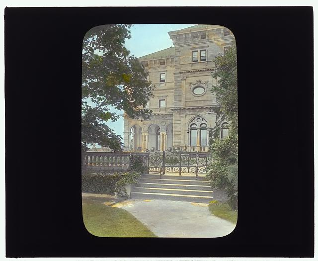 "[""The Breakers,""  Cornelius Vanderbilt II house, 44 Ochre Point Avenue, Newport, Rhode Island. Garden gate]"