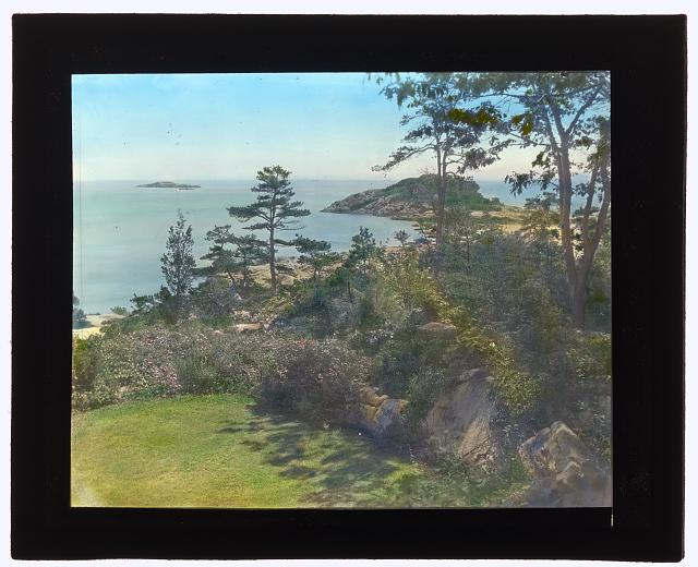 "[""Rookwood,"" Evelyn Russell Sturgis house, Gloucester Road, Manchester, Massachusetts. View to Atlantic Ocean]"