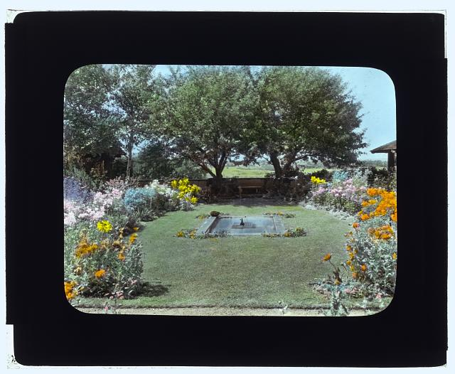 "[""Indian Ridge,"" Dr. Francis Bishop Harrington house, 166 Argilla Road, Ipswich, Massachusetts. Fountain]"