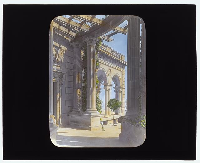 "[""The Breakers,""  Cornelius Vanderbilt II house, 44 Ochre Point Avenue, Newport, Rhode Island. Loggia]"