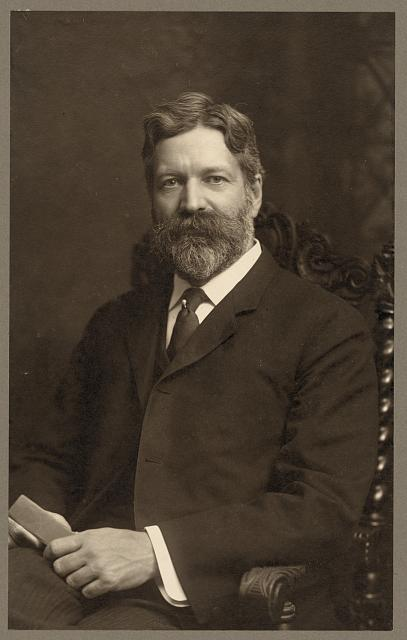 [George Foster Peabody, half-length portrait, sitting, facing front, with hands on lap]