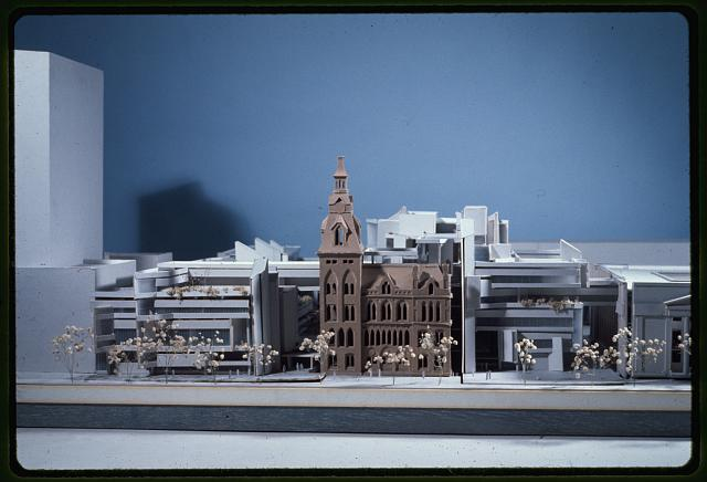 [New Haven Government Center, New Haven, Connecticut. Model D. Façades facing New Haven Green]