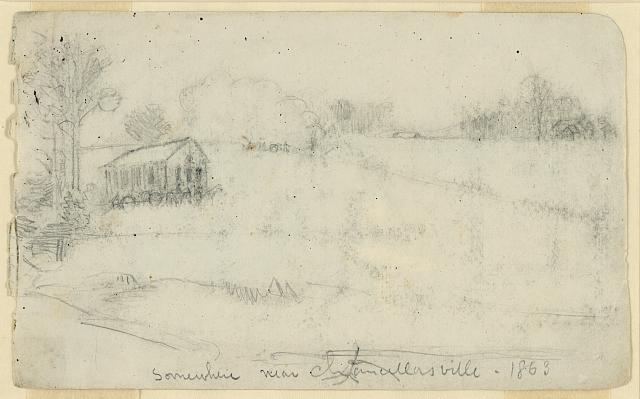 Somewhere near Chancellorsville, 1863