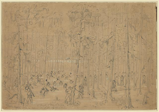 Weavers Brigade charging across the Little Salkahatchie
