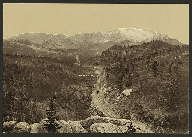 Crossing the timber line, Pike's Peak railway