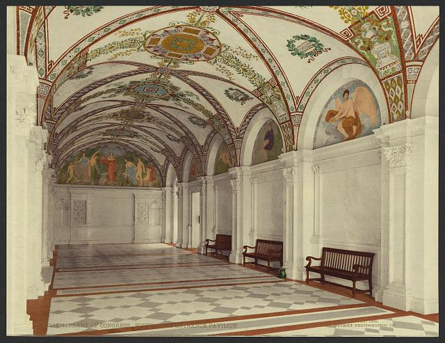 Library of Congress. South Hall, entrance pavilion