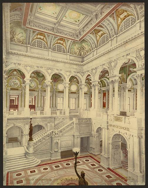 Library of Congress, central stair hall