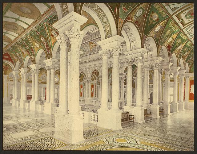 Library of Congress, second floor, central stair hall