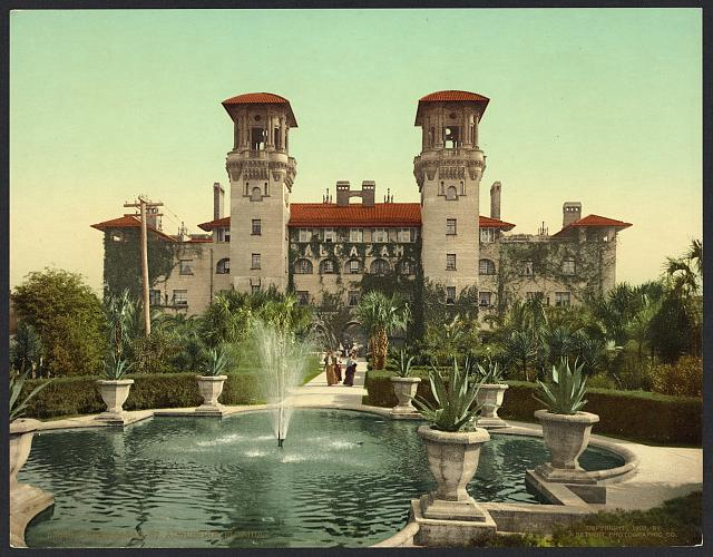 The Alcazar, St. Augustine, Florida.  Library of Congress Prints and Photographs Division Washington, D.C. 20540