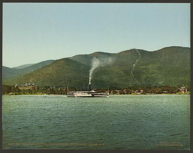 Mt. Prospect and Fort William Henry Hotel, Lake George, N.Y.