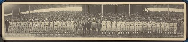 First colored world series, opening game Oct. 11, 1924, Kansas City, Mo.