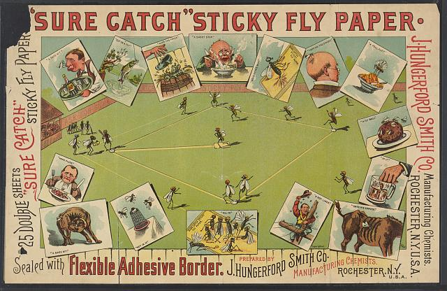 """Sure Catch"" sticky fly paper"