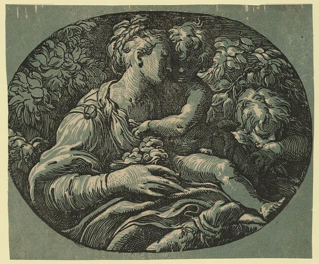The virgin, child and St. John