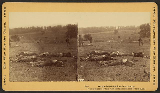 On the battlefield at Gettysburg
