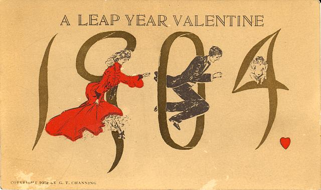 1904, a leap year valentine