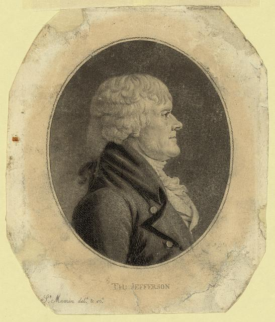 [Thomas Jefferson, head-and-shoulders portrait, right profile]