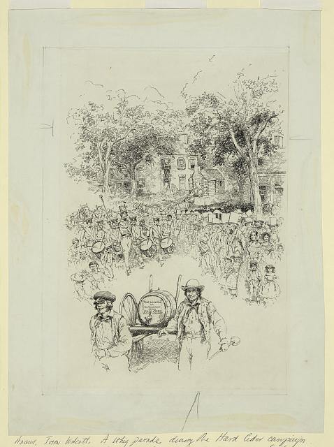 A Whig parade during the Hard Cider Campaign