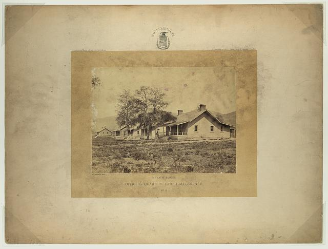 Officers' quarters, Camp Halleck, Nev.