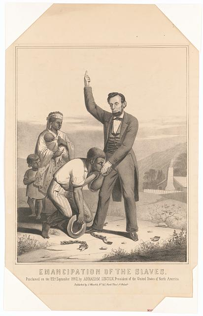 Emancipation of the slaves, proclamed [i.e. proclaimed] on the 22nd September 1862, by Abraham Lincoln, President of the United States of North America