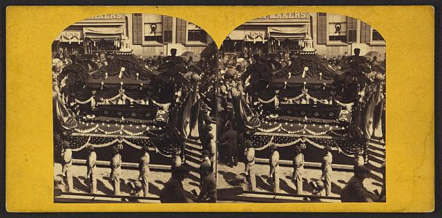[President Abraham Lincoln's catafalque, New York City, N.Y., April 24 or 25, 1865]