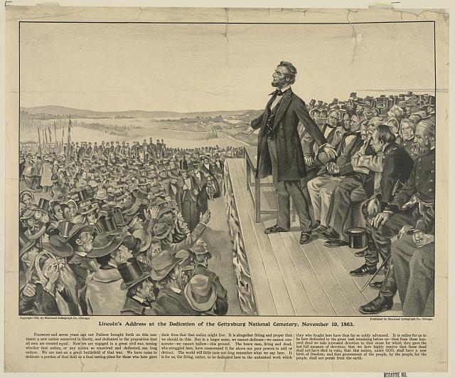 Lincoln's address at the dedication of the Gettysburg National Cemetery, November 19, 1863