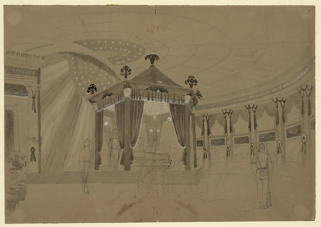 [Lincoln's coffin on view at State House, Springfield, Illinois]