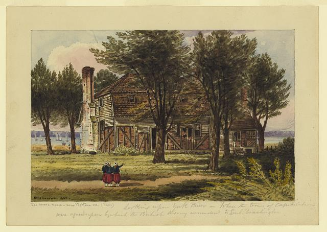 The Moore House near Yorktown, Va. (Rear)