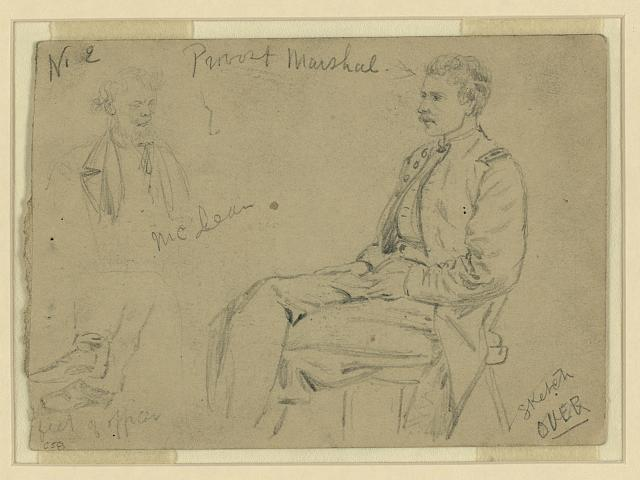 [Portraits of Provost Marshal, McLean]