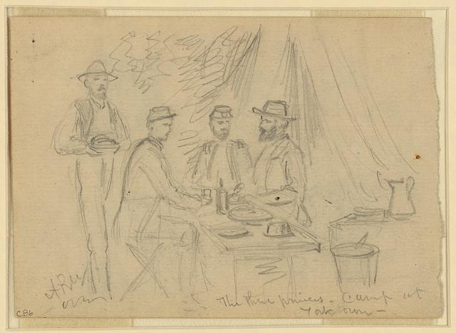 The three princes, camp at Yorktown