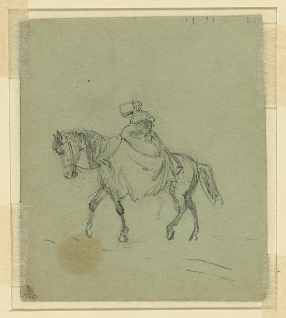 [Woman on horseback]