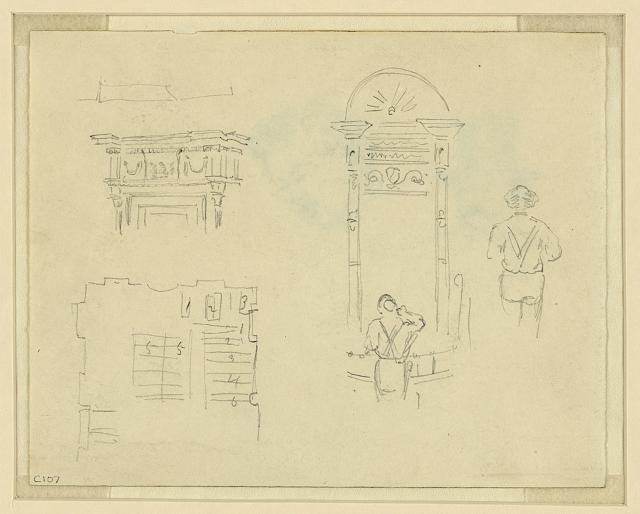 [Sketches of interior details]