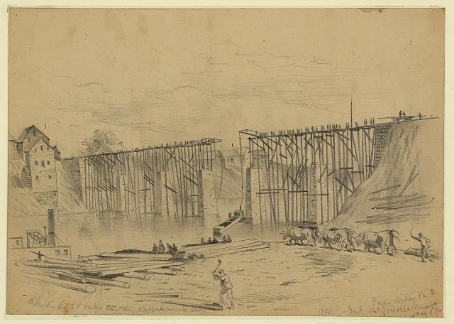 Rebuilding the RR bridge over the Rappahannock River